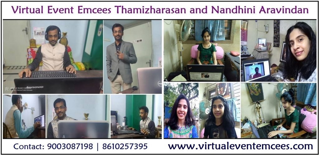 Chennai Event Emcees extending now as Virtual Event Emcees