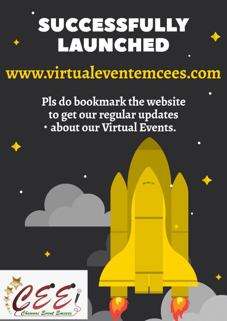 Chennai Event Emcees is now Virtual Event Emcees