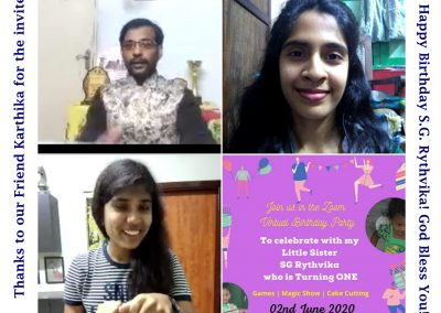 Virtual Event Emcees and Magician for Birthday Party Online _MCs Thamizharasan and Nandhini Aravindan 2