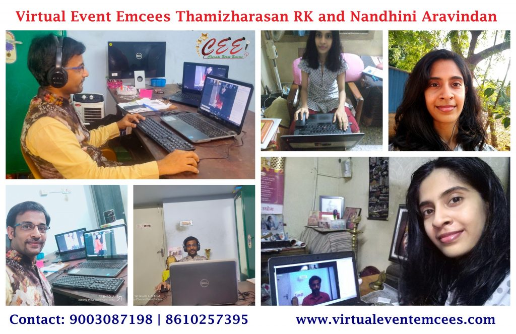 Virtual Event Emcees Thamizharasan and Nandhini A at Career Guidance Digital Conference