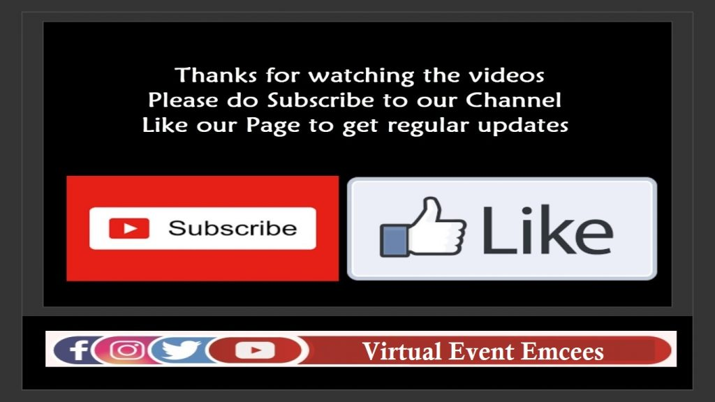 Virtual Event Emcees Facebook Instagram Twitter and Youtube Contact