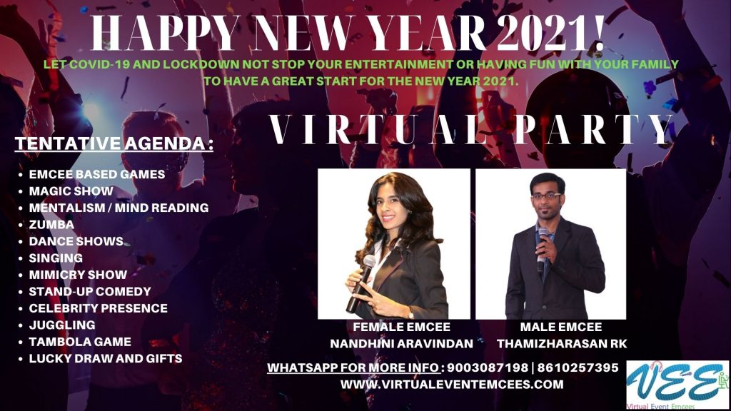 Happy New Year 2021 Party_Event by Virtual Event Emcees
