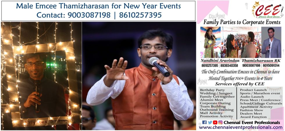 Virtual Male Emcee Thamizharasan Karunakaran for Digital New Year Party Event