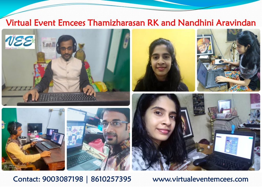 Virtual Event Emcees RK Thamizharasan and Nandhini Aravindan