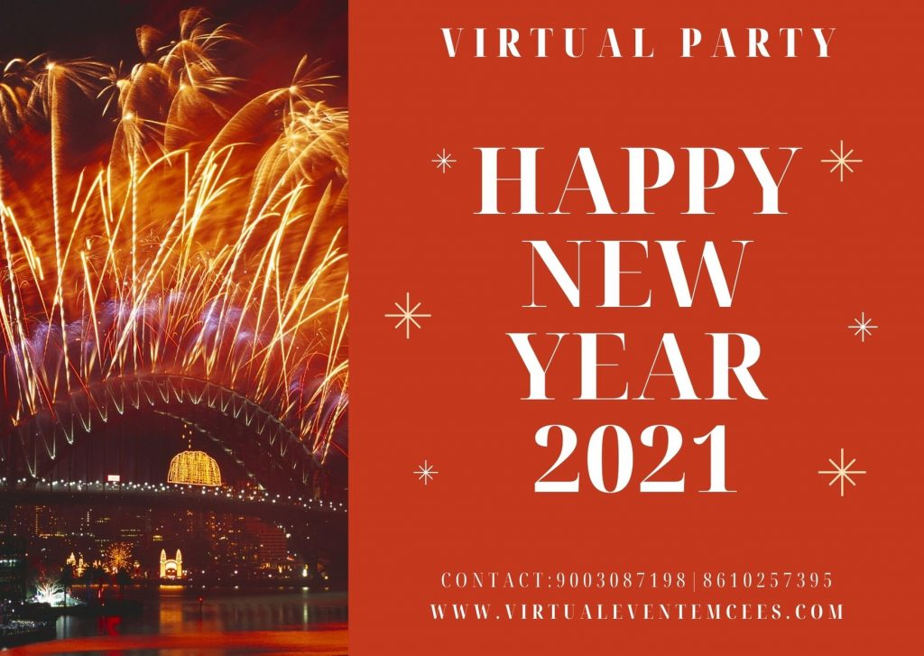 Virtual New Year Party Event 2021 organized by Chennai Event Emcees and Entertainers