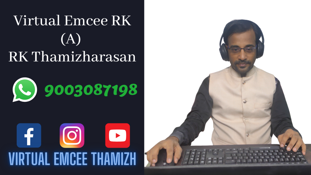 Virtual Emcee RK Thamizharasan for Online Events