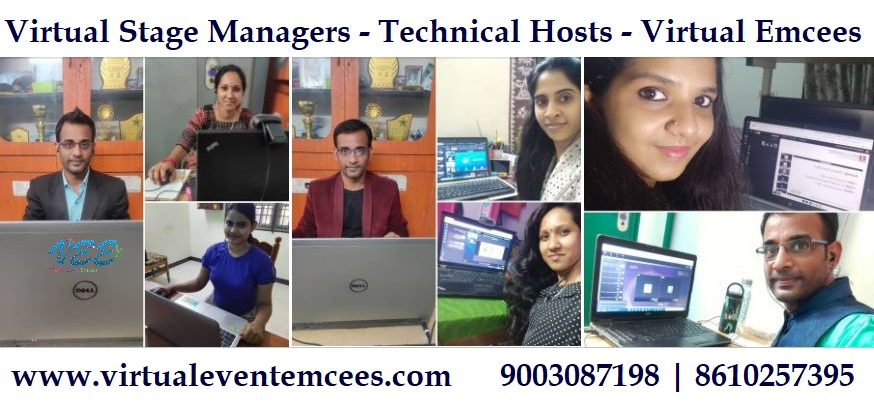 Virtual Event Emcees Technical Hosts Virtual Stage Managers